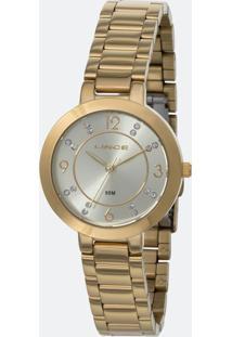 Kit Relógio Feminino Lince Lrg4516L-Ku72C2Kx Analógico 5Atm + Conjunto Semijóia