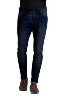 Calça Buckman Jeans Filigrama Bordado Masculina - Masculino-Jeans