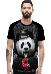 Camiseta Stompy Raglan Modelo 169 Masculina - Masculino-Preto