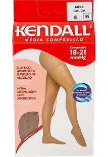 Meia Calça Kendall Feminina Média Compressão (18-21Mmhg) Ponteira Fechada Tamanho Gg Cor Mel