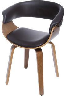 Cadeira Barcelona- Café & Madeira Clara- 78X60X40Cm