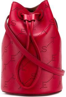 Stella Mccartney Bolsa Saco Com Logo - Vermelho