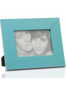Porta Retrato Em Madeira Monte Carlo 10X15Cm Azul