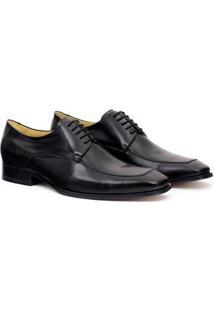 Sapato Social Couro Adolfo Turrion Confort Masculino - Masculino-Preto