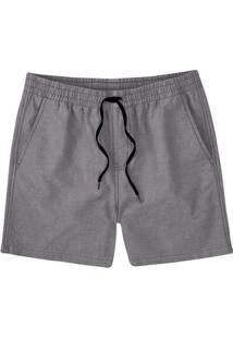 Shorts Masculino Em Tecido De Algodão Com Cordão Frontal