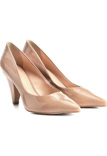 Scarpin Shoestock Salto Alto Cone - Feminino-Rosa Claro