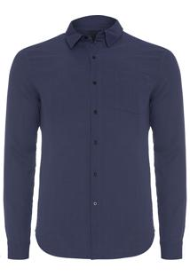 Camisa Masculina Duo Color - Azul