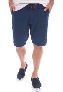 Bermuda Sarja Ray Aleatory Masculina - Masculino-Azul