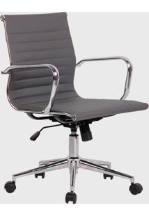 Cadeira Office Sevilha Alta Pu Cinza - Cinza - Dafiti