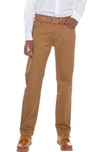 Calça Jeans Levis Masculino 505 Regular Caqui Café