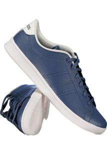 ... Tênis Adidas Advantage Clean Qt Feminino Azul E Branco d888584d38281