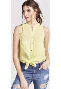 Camisa Com Bolsos - Amarelapop Up