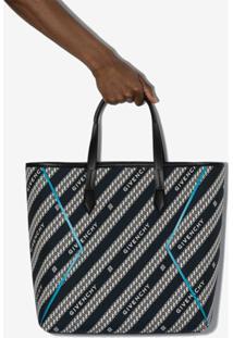 Givenchy Bolsa Tote Com Corrente E Logo - Preto