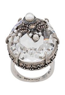 Alexander Mcqueen Spider Droplet Ring - Prateado
