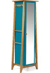 Armario Multiuso Stoka Cor Amendoa Com Azul - 31600 Sun House
