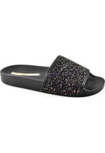 Chinelo Slide Com Glitter Moleca 5414107