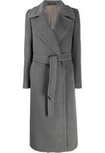 Tagliatore Belted Robe Coat - Cinza