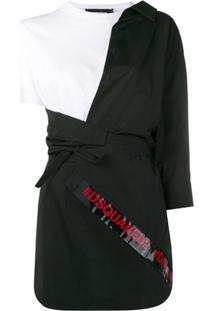 Dsquared2 Vestido Assimétrico Mini - Preto