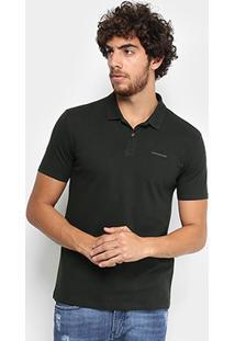 Camisa Polo Calvin Klein Piquet Básica Masculina - Masculino