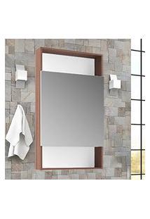 Espelheira Banheiro Com Porta E Nichos Palermo Lilies Móveis