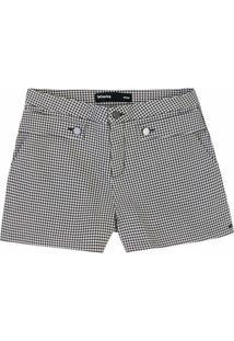 1f1c1b9d0 ... Shorts Feminino Em Tecido De Algodão Com Detalhe De Martingale