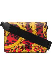 Versace Jeans Couture Baroque Leopard-Print Crossbody Bag - Vermelho
