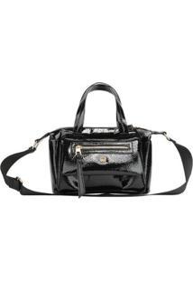 Bolsa Ana Hickmann Handbag Casual Dia A Dia Estilo Feminina - Feminino-Preto