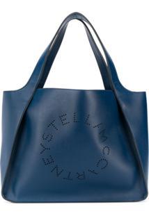 Stella Mccartney Bolsa Tote Stella Com Logo - Azul