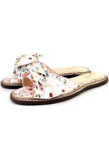 Rasteira Trivalle Shoes Escama Floral