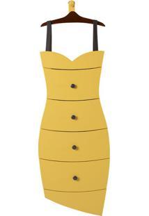 Cômoda Dress 4 Gv Amarelo