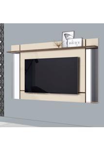 Painel Para Tv Até 65 Polegadas Malibu Off White E Madero