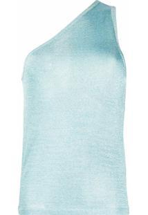Missoni Blusa Ombro Único Metálico De Tricô - Azul