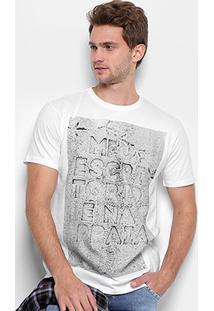 Camiseta Reserva Gola Careca Meu Escritório Masculina - Masculino