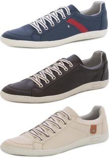 Kit 3 Sapatenis Casual Magi Shoes Moderno Multicolorido