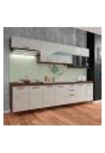 Cozinha Compacta Marília 11 Pt 2 Gv Noce E Off White