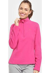 Blusa Salomon Polar 1/2 Zip Ii Feminina - Feminino-Pink