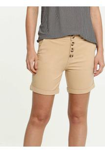 Bermuda Feminina Jeans Botões Marisa