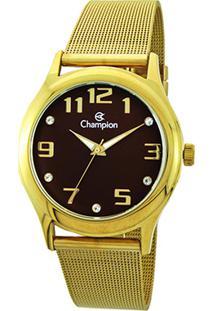 Relógio Champion Analógico Cn29007R Feminino - Feminino-Dourado