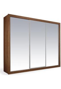 Armário 3 Portas Espelhadas De Correr, Imbuia, Premium Plus 2,16M