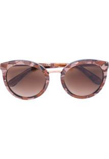 77cca13ff9fd9 ... Dolce   Gabbana Eyewear Óculos De Sol Redondo - Marrom