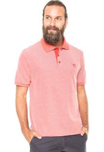 Camisa Polo Mr Kitsch Maga Curta Essential Laranja