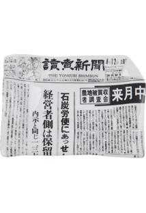Fornasetti Cinzeiro 'Yomiuri Shimbun' De Porcelana - Branco