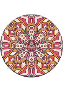 Tapete Love Decor Redondo Wevans Mandala Rosa 94Cm