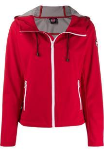 Colmar Logo Patch Hooded Jacket - Vermelho