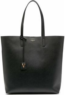 Versace Bolsa Tiracolo Com Detalhe De Tag - Preto