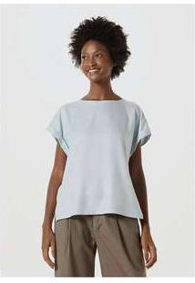 Blusa Feminina Em Tecido De Viscose Azul