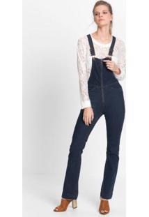 Macacão Jeans Boot Cut Azul
