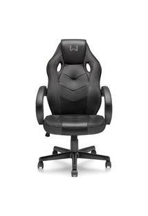 Cadeira Gamer Com Função Basculante 15° Suporta Até 120Kg Preta Warrior - Ga182 Preto