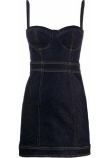 Just Cavalli Vestido Jeans Slim - Azul