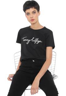 Camiseta Tommy Hilfiger Heritage Crew Neck Graphic Preta